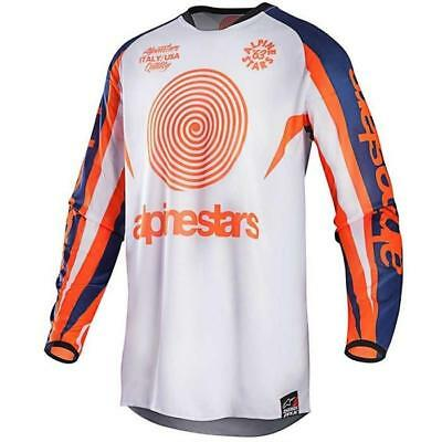 Alpinestars Racer Braap Jersey 2017 Indianapolis Limited blau weiss orange Motoc
