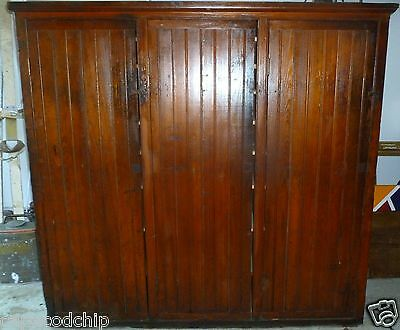 Antique Hardware General Store Cabinet Hutch Display Factory Primitive Steampunk