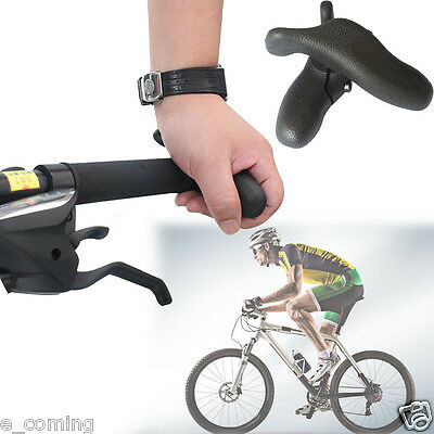 2PCS Black Cycling MTB Mountain Bike Bicycle Lock-on Handlebar Grips Handle Bar