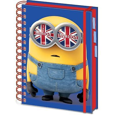 Universal® Minions A5 Spiral Bound Project Book Official Kids Writing Pad