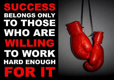 Boxing Inspirational / Motivational Poster / Print Success Belongs..