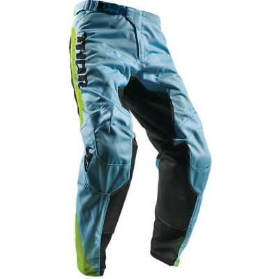 Thor MX Hose PULSE AIR PROFILE POWDER - blau-lime Motocross Enduro MX Cross