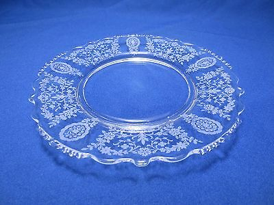 """Tiffin Glass Franciscan Salad /Lunch Plate JUNE NIGHT- 8"""" Scalloped Beaded edge"""