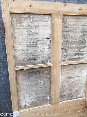"31¼""X71¼"" Reclaimed Ex-glazed Victorian Stripped Pine 2 Panel Side-by-Side Door"
