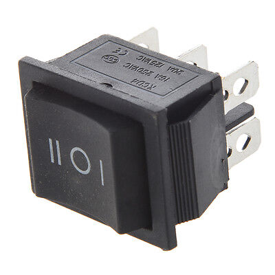 6-Terminals 3 Position ON/OFF/ON DPDT Boat Rocker Switch 250VAC 20A 125VAC R1X1