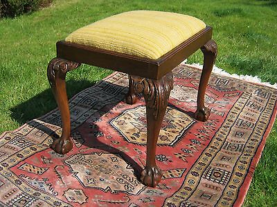 Footstool - Ball and Claw Feet - Victorian - Antique