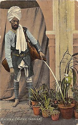 POSTCARD   INDIA  ETHNIC   BHISTEE   (  Water  Carrier  )