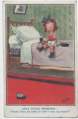 POSTCARD  CHILDREN Life's Little Problems       Gilson