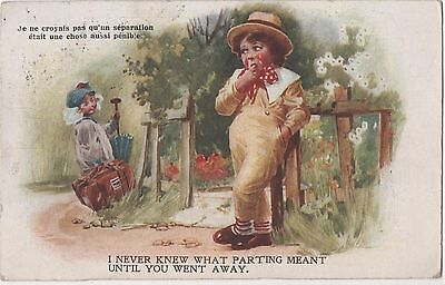POSTCARD  CHILDREN  I never knew what parting...