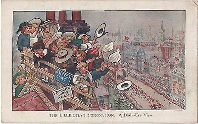POSTCARD  CHILDREN  The Lilliputian Coronation