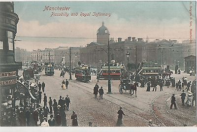 POSTCARD  MANCHESTER  Piccadilly & Royal Infirmary