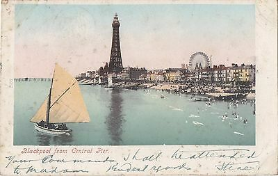 POSTCARD  BLACKPOOL    From Central Pier