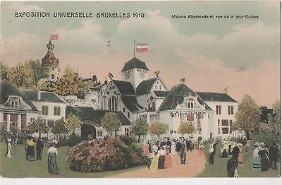 POSTCARD  EXHIBITIONS  Bruxelles  1910  German House