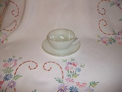 Arcopal Vintage French Sweet Little Coffee Cup & Matching Saucer