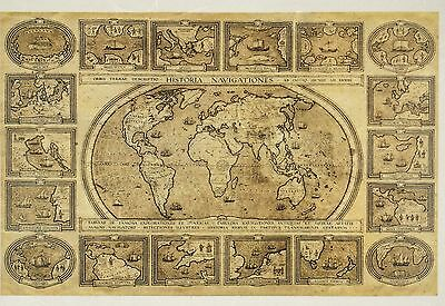 Rice Paper Vintage Old World Map for Decoupage Decopatch Scrapbook Craft Sheet