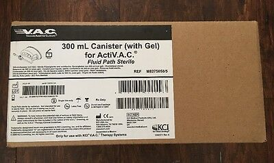 KCI 300 mL Canister (with Gel) for ActiV.A.C. Therapy System M8275058/5 Box Of 5