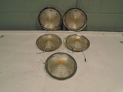 """Fire Truck Compartment Lights Lot of 6 Fire Engine Ambulance Rescue EMS 7""""dia."""
