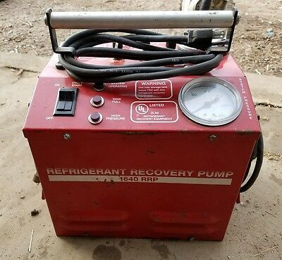 Refrigerant Recovery Pump 1640 RRP White Industries Used (BX-A)