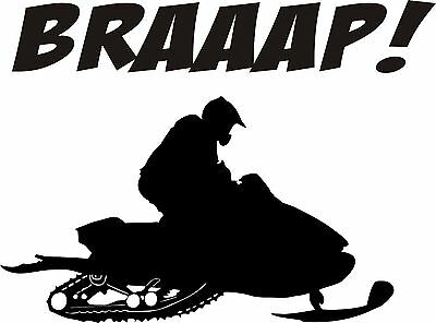 Snowmobile Vinyl Decal Sticker BRAAP SLED High Quality 5x7 ANY COLOR!