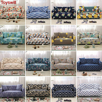 Stretch Sofa 1 2 3 4 Seater Protector Washable Couch Cover Slipcover L Shape