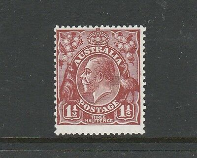 "1928 KGV SMALL MUTLIPLE WATERMARK 1½d BROWN MINT UNHINGED ""FRESH"""