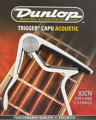 Jim Dunlop Nickel Acoustic Trigger Capo J83Cd - Made In Usa