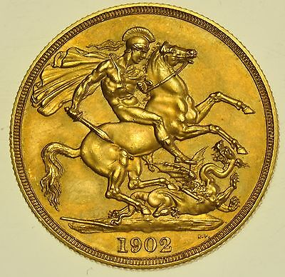 Rare 1902 Matt Proof Two Pounds £2, British Gold Coin From Edward Vii