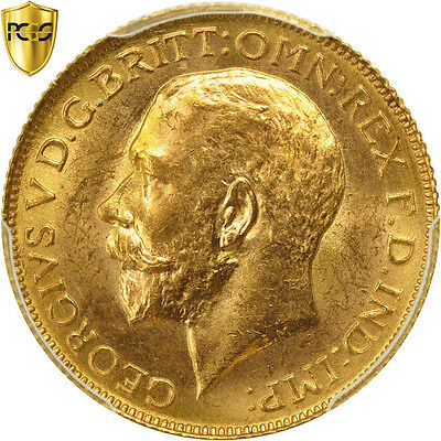[#480746] Great Britain, George V, Sovereign, 1925, PCGS, MS63, MS(63), Gold