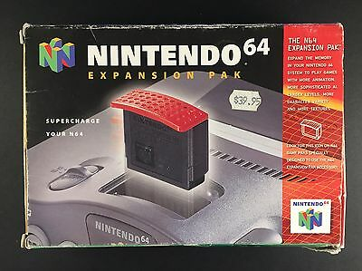 Genuine Nintendo 64 Expansion Pak (Pack) Boxed - CIB Original Box N64 Preloved