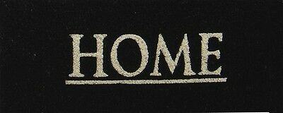 """French Chic """"home""""  Large Black Door Mat -45 X 110 Cm"""