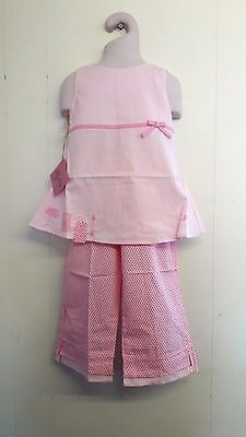 .Gorgeous Lily Rio Pink Cotton Top & Matching Trousers - Age 2, 3 or 4yrs BNWT