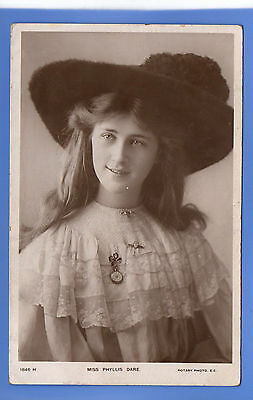 Old Vintage 1906 Rp Postcard Edwardian Actress Miss Phyllis Dare