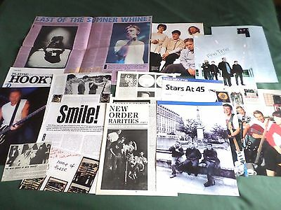 New Order  -Rock/ Pop Music - Clippings/cuttings Pack