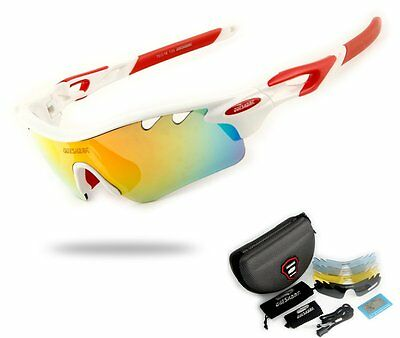 ★Gafas ciclismo ciclista bicicleta 5 LENTES INTERCAMBIABLES BIKE★ Cyling MTB ★wh