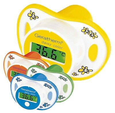 Geratherm Daisy Color Fieberthermometer Schnuller Thermometer Baby Fieber