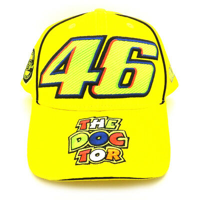 VALENTINO ROSSI VR46 Moto GP 46 The Doctor Yellow Cap Official 2018 ... 1952c3068737