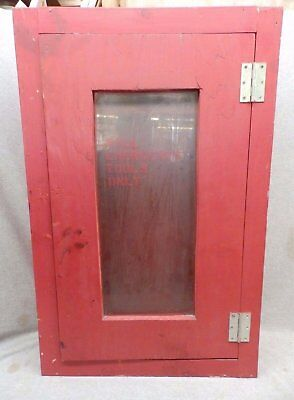 Vintage Firehouse Red Cabinet Medicine Chest Factory Cupboard 400-17R