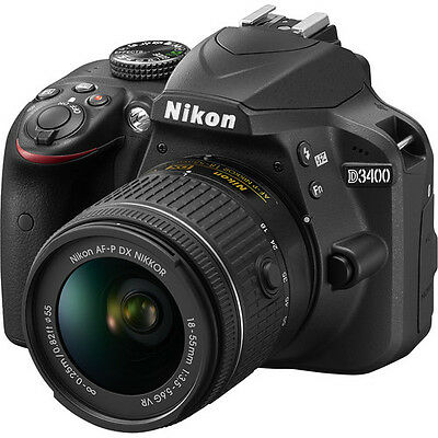 Nikon D3400 Digital SLR Camera w/ AF-P DX 18-55mm Lens Kit - (Latest Model)