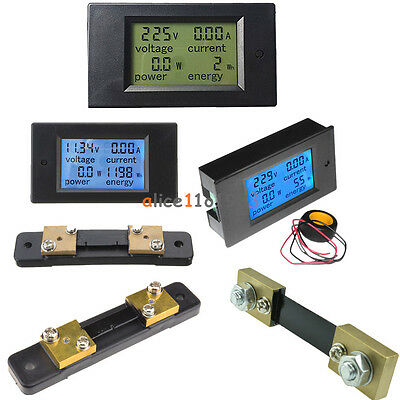 LCD AC80-260V/DC6.5~100V 20/50/100A Combo Panel Display Volt Amp PowerWatt Meter
