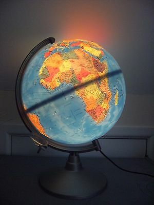 "Nova Editions 10"" Rico Florence Tactile Relief Globe Lamp Light"