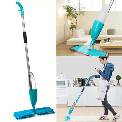 Double Sided Spray Mop Water Spraying 550Ml Floor Cleaner Microfibre Tiles New