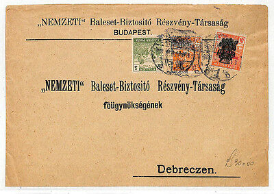 DD18 HUNGARY COMBINATION FRANKING Budapest Cover Debreczen {samwells-covers}