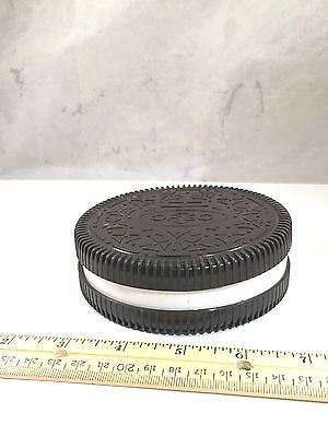 Oreo Round Cookie Shaped Plastic Collectible Storage Container Nabisco 1999