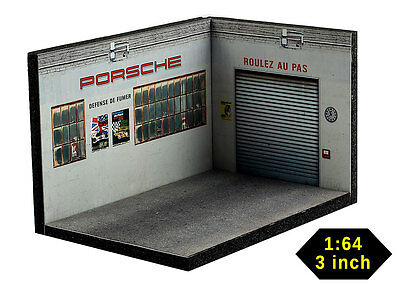 Diorama German Car Workshop - 1/64ème (3inch) - #3in-3-L-L-AF-001