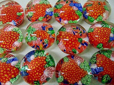 ❤ Hand Blown FLOWER GARDEN Glass Paperweight Millefiori