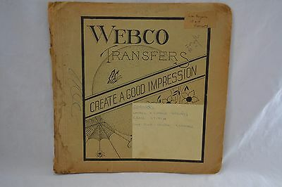VINTAGE 1940s WEBCO transfers booklet sewing embroidery 10 x 10 floral sprays
