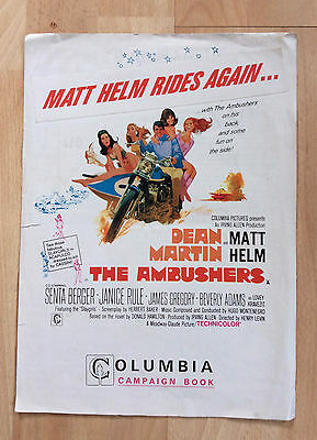 UK Film Campaign Book - Columbia Pictures - Matt Helm The Ambushers 1968