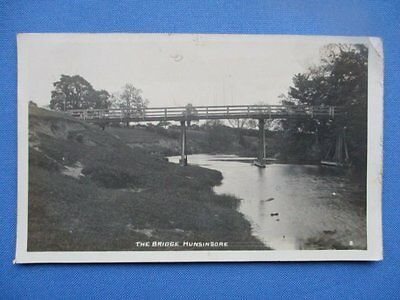 Vintage Photograph Postcard, The Bridge Hunsingore Wetherby 1922