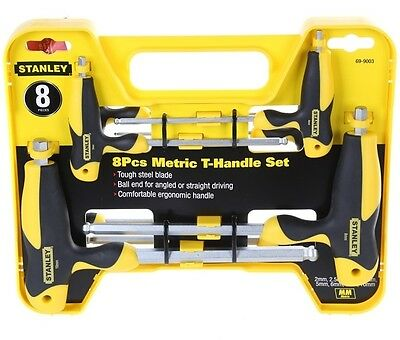 STANLEY 8pc METRIC T-HANDLE BALL END SET  NEW