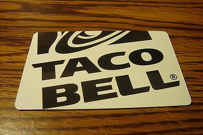 TACO BELL GIFT CARD NO VALUE-Never Used or Activated Collectable  2013  NEW